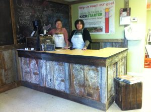 Volunteers at Cashier