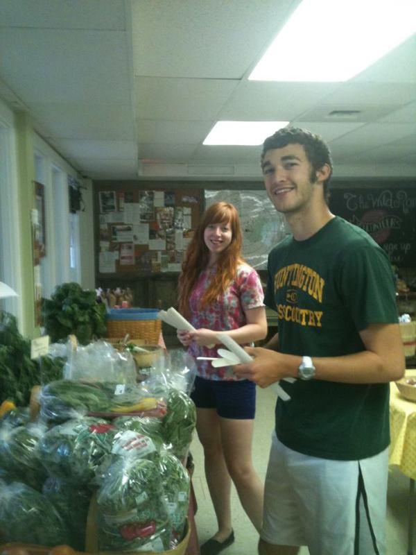 volunteers stocking